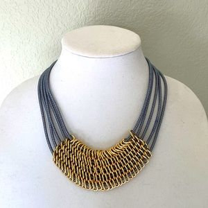 🆕 INC Navy 5 Row Corded Necklace